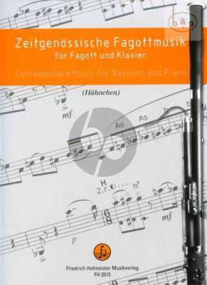 Zeitgenossische Fagottmusik Fagott und Klavier (Dieter Hahnchen)