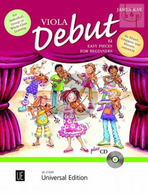 Viola Debut (12 Easy Pieces for Beginners) (Pupil's Book) (1 - 2 Viola's)