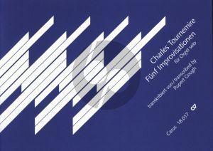 Tournemire 5 Improvisations for Organ (edited by Rupert Gough)
