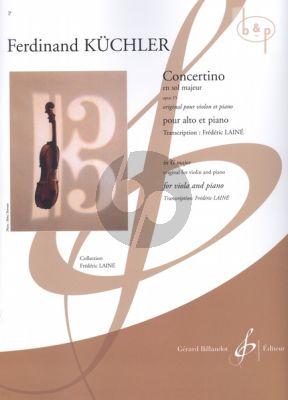 Concertino G-major Op.15 Viola and Piano