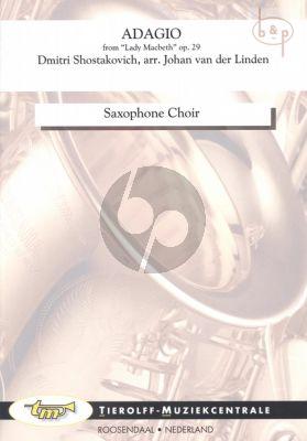 Adagio (from Lady Macbeth Op.29) (Saxophone Choir) (Score/Parts)