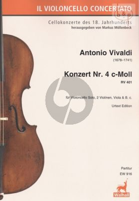 Concerto No.4 c-minor RV 401 (Violonc.solo- 2 Vi.-Va.-Bc.)
