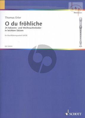 O Du Frohliche (24 Advents- & Weihnachtslieder in leichten Satzen)