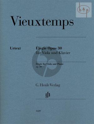 Elegie Op. 30 Viola and Piano