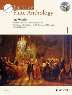 Baroque Flute Anthology for Flute Vol.1 (36 Works) (Flute-Piano)