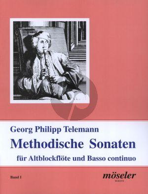 Telemann Methodische Sonaten Vol.1 Altblockflöte und Bc (1728 & 1732) (Martin Nitz)