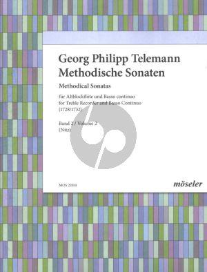 Telemann Methodische Sonaten Vol. 2 Altblockflöte und Bc (1728 und 1732) (Martin Nitz)