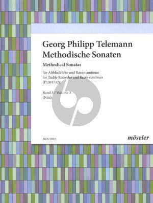 Telemann Methodische Sonaten Vol.3 Altblockflöte und Bc (1728 & 1732) (Martin Nitz)