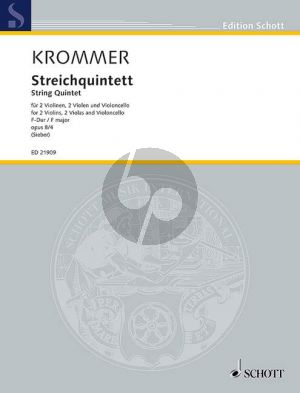 Krommer Quintet F-major Op. 8 No.4 2 Vi.- 2 Va.-Vc. (Score/Parts) (edited by Tilman Sieber)