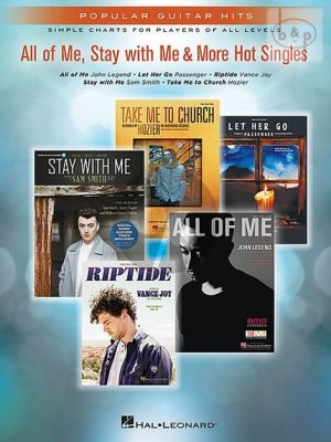 All of Me, Stay with Me and more Hot Singles for Guitar