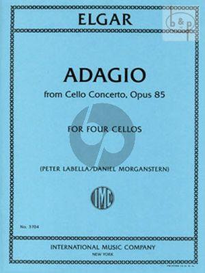 Adagio from Cello Concerto Op.85 (4 Violonc.)