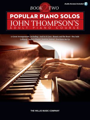 Thompson Popular Piano Solos Vol.2 (John Thompson Adult Piano Course) (Book with Audio access online) (edited by Baumgartner-Austin) (interm.level)