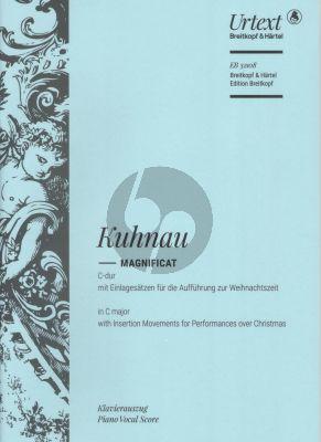 Kuhnau Magnificat C-dur SSATB mit Soli-Orchester Klavierauszug (David Erler)