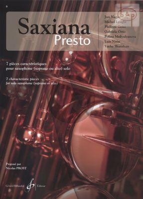 Saxiana Presto pour Saxophone seule (7 Pieces Caracteristiques)