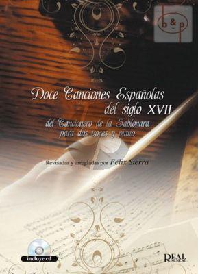 12 Canciones Espanolas del siglo XVII del Cancionara de la Sablonara (2 Voices-Piano)