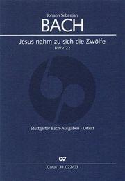 Bach Kantate BWV 22 Jesus nahm zu sich die Zwölfe