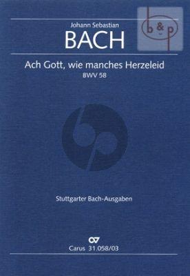 Kantate BWV 58 Ach Gott, wie manches Herzeleid (Fruhfassung) (Vocal Score)