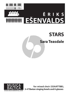 Esenvalds Stars SSAATTBB and 6 Water-tuned Glasses (Text Sara Teasdale)