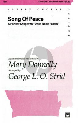 Donnelly Song of Peace (Partner Song with Dona Nobis Pacem) 2-part-piano (Strid)