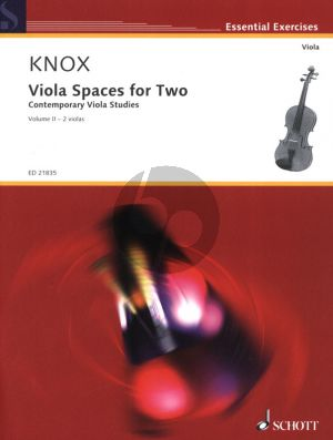 Knox Viola Spaces for Two Vol.2 (Contemporary Viola Studies for 2 Violas) (2 Scores)