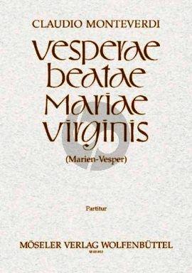 Monteverdi Vesperae Beatae Mariae Virginis Soli-Chor-Orchester Partitur (Gottfried Wolters)