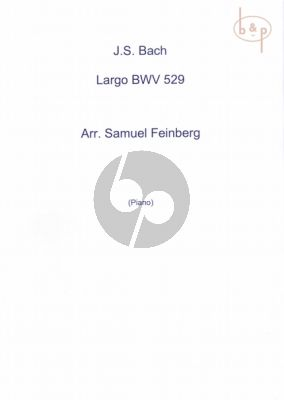 Largo from Organ Sonata No.5 BWV 529 Piano