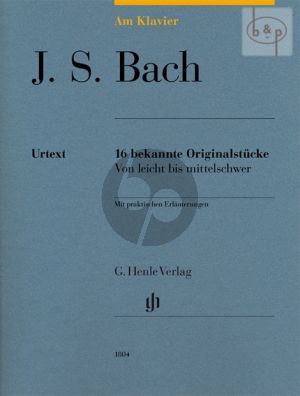 Bach am Klavier (16 Bekannte Originalstucke)