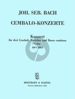 Konzert C-dur BWV 1064 3 Cembali-Streicher-Bc Partitur