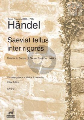 Saeviat tellus inter rigores HWV 240 Soprano- 2 Oboes-Strings-Bc (Score