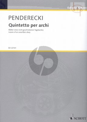 Quintetto per archi (Leaves of an unwritten diary)