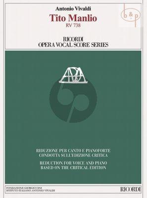 Vivaldi Tito Manlio RV 738 Vocal Score (edited by Alexander Borin)