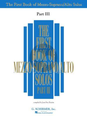Album First Book of Mezzo-soprano Solos Vol.3 (Book only) (Editor Joan Frey Boytim)