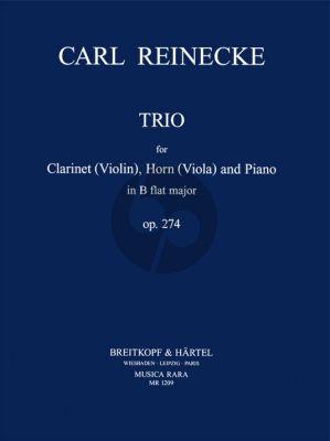 Reinecke Trio B-flat major Op.274 Clarinet (Bb)[Violin], Horn[Viola] and Piano