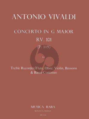 Concerto G-major RV 101 Treble Rec.-Oboe-Vi.- Bassoon-Bc