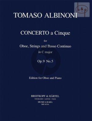 Concerto C-major Op.9 No.5 (Oboe-Str.-Bc)
