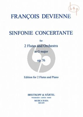 Sinfonia Concertante G-major Op.76 (2 Flutes-Orch.) (piano red.)