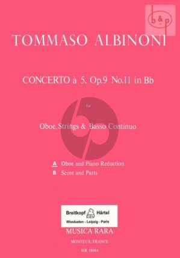 Concerto B-flat major Op.9 No.11 (Oboe-Str.-Bc)