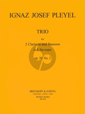 Pleyel Trio A-flat major Op.20 No.2 2 Clarinets-Bassoon (Score/Parts) (edited by Himie Voxman)