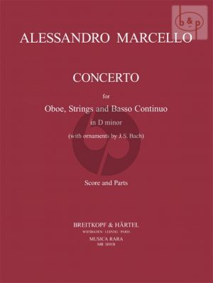Marcello Concerto d-minor (with Bach's Ornaments) (Oboe-Str.-Bc) (piano red.) (Himie Voxman)