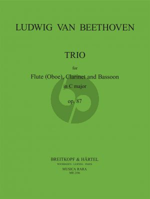Beethoven Trio C-major Op.87 Flute (Oboe)-Clarinet and Bassoon (Score/Parts) (transcr. by John P. Newhill)