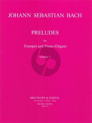 Bach J.S.  Preludes Vol.1 (Trumpet-Piano[Organ]) (Wallace)