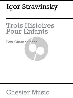 Strawinsky 3 Histoires pour Enfants Medium Voice (Russian/French)