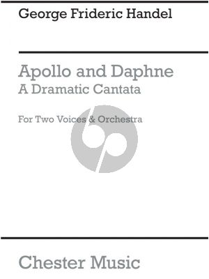 Handel Apollo and Daphne (A Dramatic Cantata for 2 Voices and Orchestra) (Vocal Score)