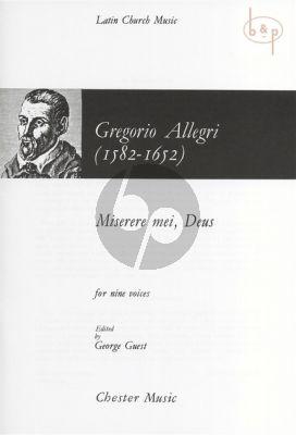 Allegri Miserere Mei Deus (SSATB-SSATB) (ed. George Guest)
