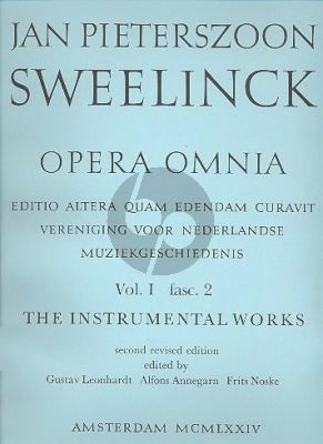 Sweelinck Opera Omnia - Instrumental Works Serie 1 Vol.2 (Settings of sacred melodies) (Gustav Leonhardt)