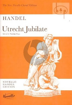 Utrecht Jubilate HWV 279 2 Alto and Bass Soli-SATB-Orchestra