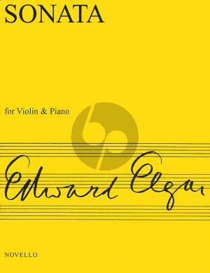 Elgar Sonata e-minor Opus 82 Violin and Piano