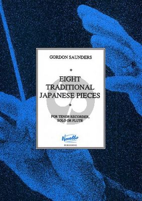 Saunders 8 Traditional Japanese Pieces for Tenor (or Descant) recorder