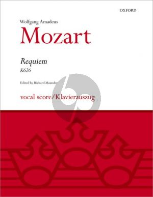 Mozart Requiem KV 626 (SATB[soli]-SATB[choir]-Orch.) (Vocal Score) (edited by Richard Maunder)