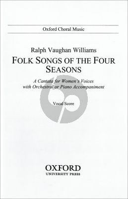 Vaughan Williams Folksongs of 4 Seasons (Vocalscore)
